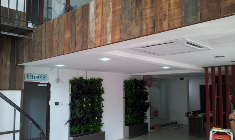 Indoor Vertical Garden for Office in The Strand