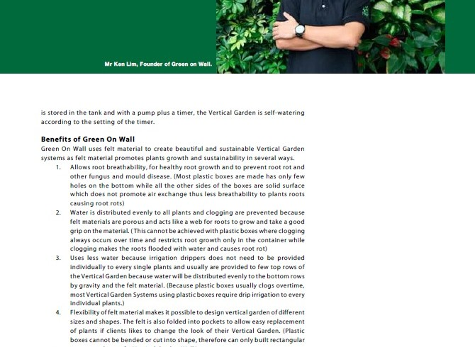 South East Asia Building Magazine Feature Green On Wall