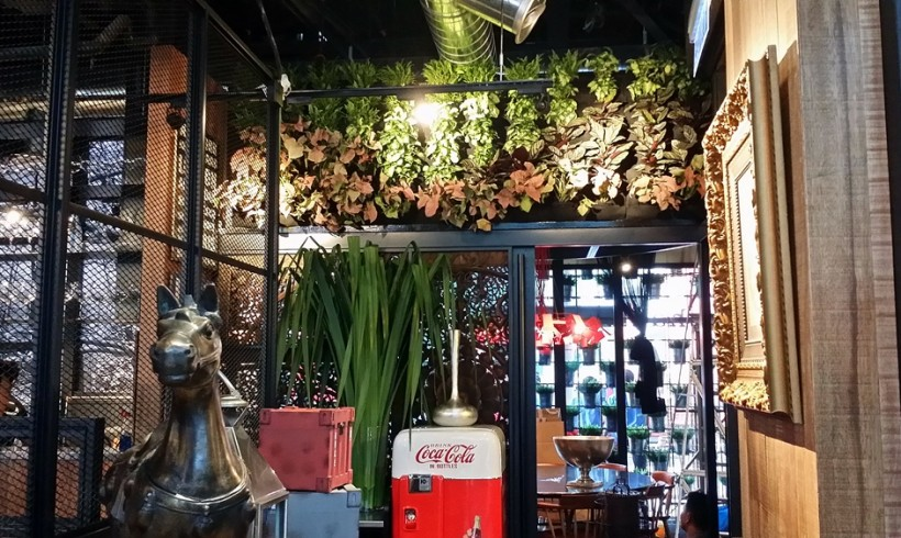 Vertical Garden in Thai Restaurant